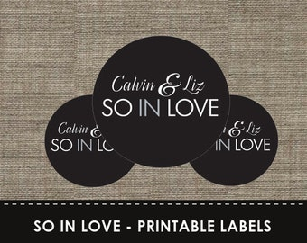 So In Love Printable Labels - DIY - Cupcake - The Studio Barn