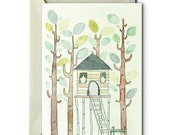 My life in a Tree House III - Greeting Card