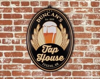 Personalized Beer Sign-Tap House Edition BS1001 Custom Bar Sign