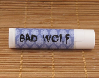 Doctor Who Bad Wolf Lip Balm - Over 80 Flavors! - Handmade Lip Balm