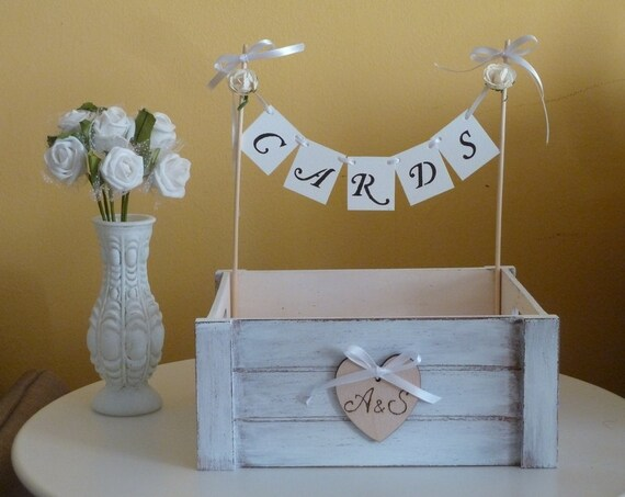 Wedding Gift Card Box Holder: Wedding Card Box Holder With Cards Banner And By SayaArtDesign