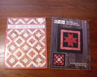 Two Log Cabin Pattern Books, Log Cabin Variations, Log Cabin Star Quilt, Log Cabin Quilt Pattern, Quilting Patterns, Quilt Book