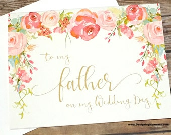 To My Father On My Wedding Day Wedding Card for Dad, Vintage Daddy's Little Girl Card, For My Dad, Father of the Bride - HEIRLOOM