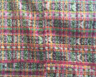 "Traditional Multicolor Guatemalan skirt ""corte"""