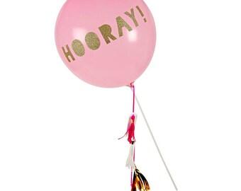 Toot Sweet Pink Balloon Wand - Party Supplies Meri Meri Balloon wand Hooray