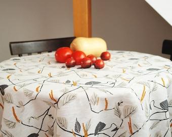 Kinnamark Näverås tablecloth Linen tablecloth Linen table runner Scandinavian tablecloth Scandinavian Fabric