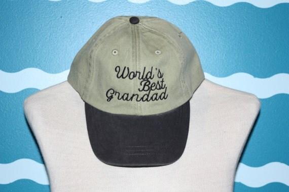 Embroidered world's best grandad baseball call - grandad ball cap - baseball hat for grandad - custom embroidered hat - Grandparent ball cap