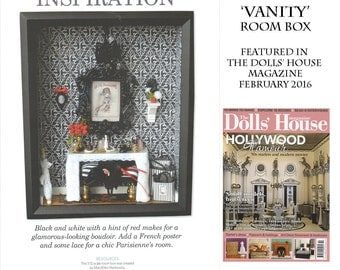 Dollhouse Miniature Room Box / Shadow Box, As featured in The Dolls' House Magazine, 1/12th Scale / OOAK Art
