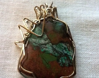 Sonoran Sunset Wirewrapped Pendant