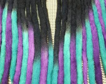 Wool Dreadlocks Custom Wool Dreads Handmade Hippie Dreads Hair Extensions Wool Dreads Ombre Hair Accessories Set of 21