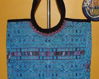Beautiful Handmade Large Huipil Tote Bag- Recycled- Boho- hippie- Hip Bags -Dipper Bag- Hand-embroidered