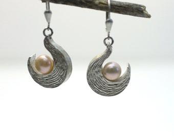 Holiday Sales - Pearl Earrings - Sterling Silver Earrings - Dangle earrings - Pearl Silver Earrings - Wedding Earrings - Bridal Jewelry