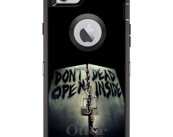 Walking Dead OtterBox Defender / Apple iPhone OR Samsung Galaxy / Don't Open Dead Inside / Custom Personalized Monogrammed / Any Color