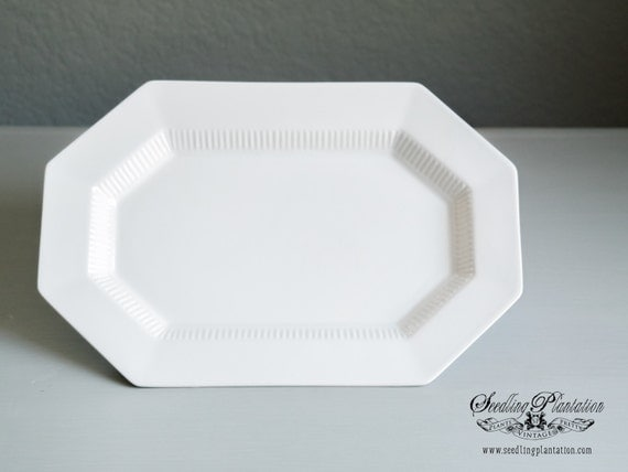 White Ironstone Serving Platter, Ironstone Plate, Serving Platter, French Country Shabby Chic Farmhouse