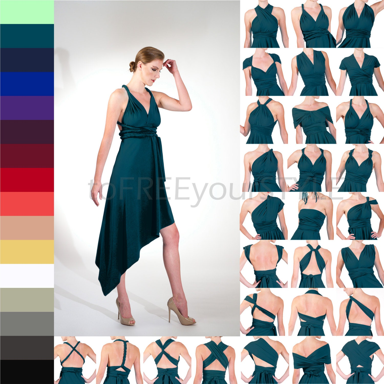 Angled infinity wrap dress free style dress convertible zoom ombrellifo Choice Image