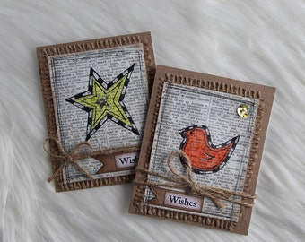 Star & Bird Gift Card Set