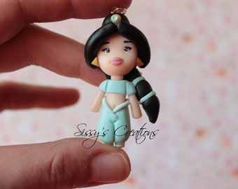 Jasmine necklace in POLYMER CLAY - Disney