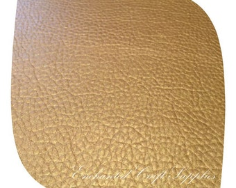 Gold Leatherette Fabric