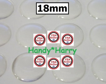 New Item (60 OR 120) 18MM Crystal Clear Epoxy Adhesive Circle Bottle cap Bottlecap Stickers Dome Dots Bubble Epoxy Stickers Epoxy Domes 18mm