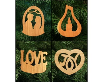 Romance Christmas Ornament Set