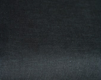 Black Linen Fabric/ Softened Linen/ Fabric by Half Yard/ Baltic Linen/ Natural Linen/ Flax