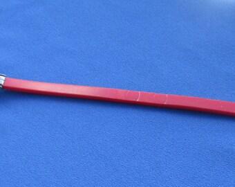 Retro Rubber Red  Metal Adjustable Bracelet