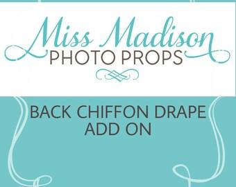 CHIFFON DRAPE/ Chiffon Tossing TRAIN/ Maternity Gown/ Maternity Dress/ Photo Prop/ Photography- Add on item Please read full description.