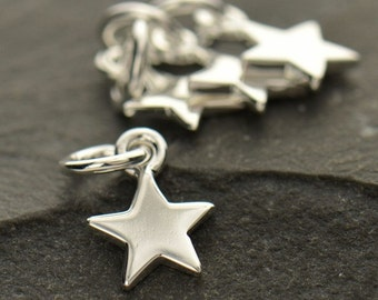 Tiny Sterling Silver Small Star Charm