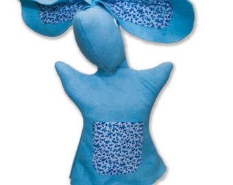 Bunny Rabbit Hand Puppets for Children - Baby Blue