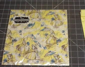 vintgae tissue wrap neat graphic in original package