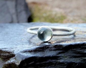silver topaz skinny scratch ring