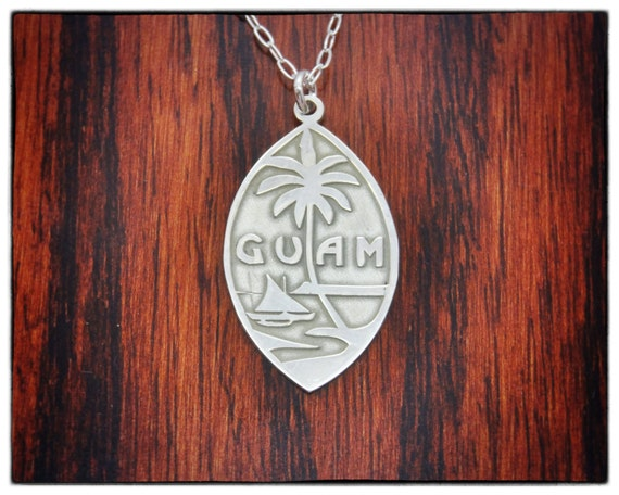 seal of guam national symbol necklace sterling silver country