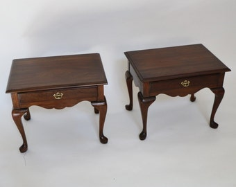 Pennsylvania House Queen Anne Matching Petite End Tables Night Stands with drawer