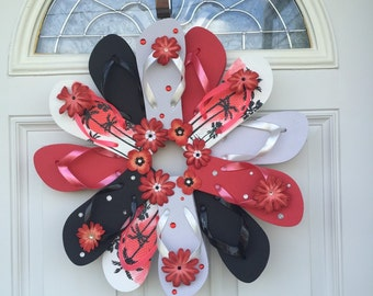 Summer Decor / Flip Flop Wreath / Beach House Decor