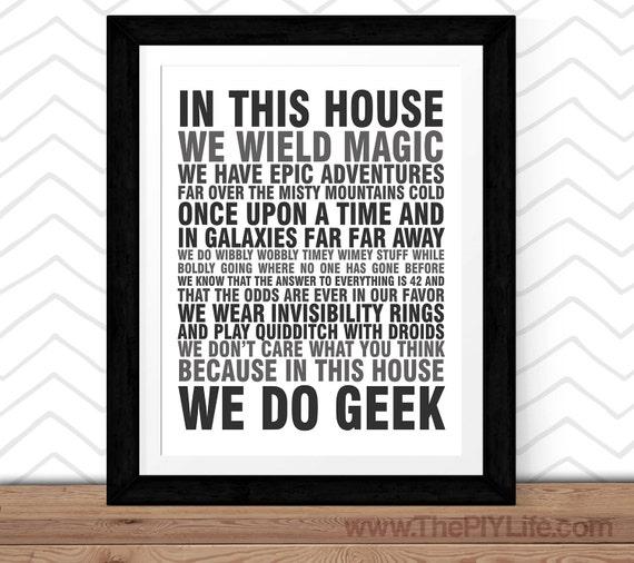 Geek Wall Art home decor in this house we do geek wall art inspirational