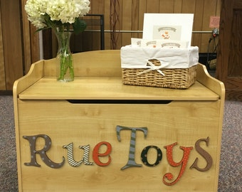 Custom Personalized Toy Chest ~Toy Box ~ Woodland Theme ~ Toy storage for children ~ Twin Toy Box