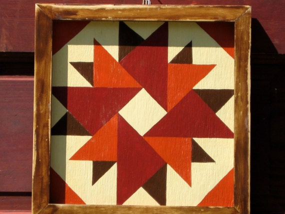 Items similar to Quilt Block, Painted Wood, 1' x 1' square on Etsy