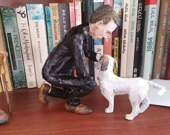 Papier mache sculpture, Neil Gaiman, Neverwhere, fine art doll