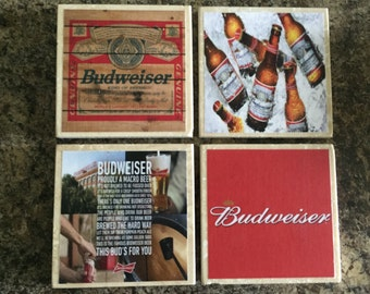 Budweiser Coasters- Set of 4