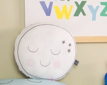 Moon cushion. Decorative pillow. Nursery decor. Kids bedroom. Gifts for kids and babies