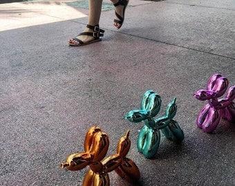 Jeff Koons inspired Medium Balloon  dog Figure in Rose Gold - Pink or Aqua