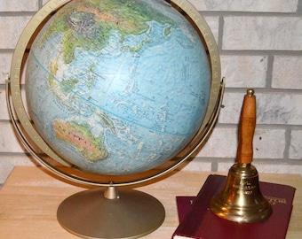 1970 Vintage Repolgle School Room Globe