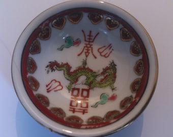 vintage Chinese sauce bowl