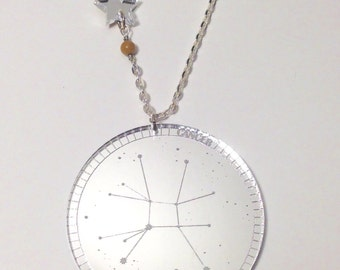 Mirrored Constellation Necklace (Cancer)