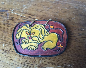 Groovy Lion Mid-Century Brooch with Lion