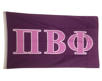 Pi Beta Phi Dark Purple/Light Purple Letter Flag 3' x 5'