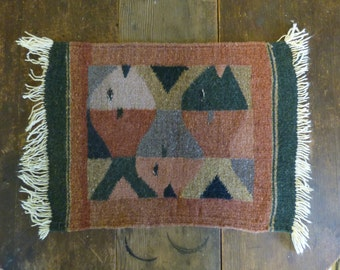Hand Woven VIntage Ethnic Placemat