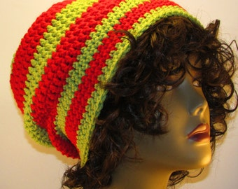 Hadley Slouch Red and Green Hat