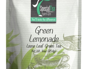 16 oz. Lemonade Loose Leaf Green Tea with Free Tea Infuser