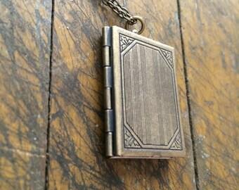Secret Journal Locket Necklace